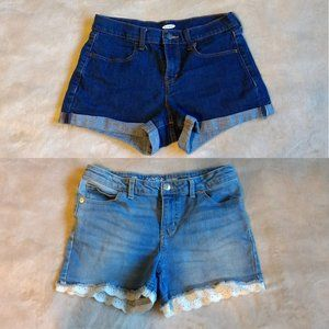 Old Navy and Cat and Jack jean shorts bundle